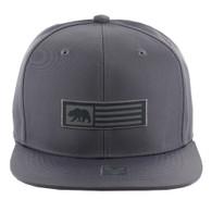 SM1007 Cali Bear Snapback Cap (Solid Grey)
