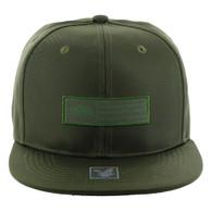 SM1007 Cali Bear Snapback Cap (Solid Olive)