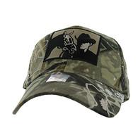 VM193 Malboro Cowboy Velcro Cap (Solid Hunting Camo)