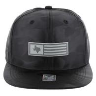 SM1007 Texas Snapback (Solid Black Camo)