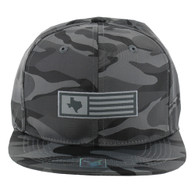 SM1007 Texas Snapback (Solid Grey Camo)