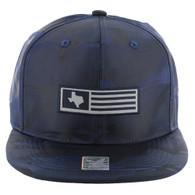 SM1007 Texas Snapback (Solid Navy Camo)