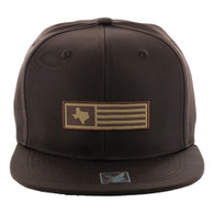 SM1007 Texas Snapback Cap (Solid Brown)