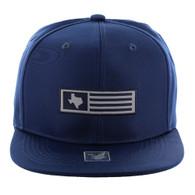 SM1007 Texas Snapback Cap (Solid Navy)