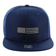 SM1007 USA Flag Snapback Cap (Solid Navy)