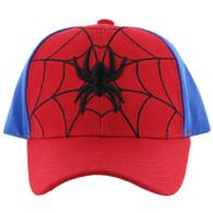 VM428 Kids Spider Cotton Velcro Cap (Red & Royal)