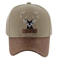 VM121 Deer Hunter Velcro Cap (Solid Khaki)