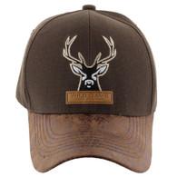VM121 Deer Hunter Velcro Cap (Solid Brown)