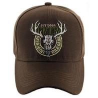 VM119 Hunting Deer Velcro Cap (Solid Brown)