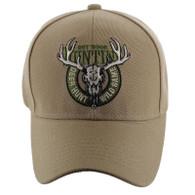 VM119 Hunting Deer Velcro Cap (Solid Khaki)