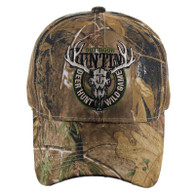 VM119 Hunting Deer Velcro Cap (Solid Hunting Camo)