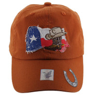 VM132 Texas Baseball Cap Hat (Solid Texas Orange)