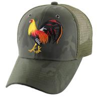 VM274 Cock Mesh Trucker Cap (Olive Camo & Black)