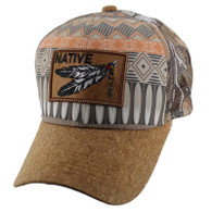 VM117 Native Feather Mesh Trucker Velcro Cap (Patter & Hunting Camo)