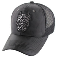 VM569 Pitbull Mesh Trucker Cap (Black Camo)