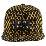 SM093 Alabama Snapback Cap (Solid Black)