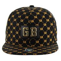 SM093 Green Bay Snapback Cap (Solid Black)