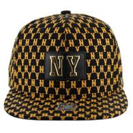 SM093 New York City Snapback (Solid Black)