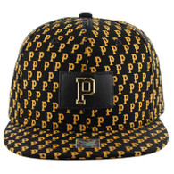 SM093 Pittsburgh Snapback (Solid Black)