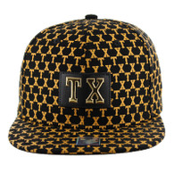 SM093 Texas Snapback Cap (Solid Black)