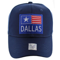 VM022 Dallas Velcro Cap (Solid Navy)