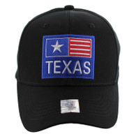 VM022 Texas Velcro Cap (Solid Black)