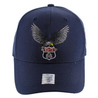 VM059 Route 66 Road Velcro Cap (Solid Navy)