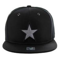SM100 Star Snapback Cap (Solid Black)