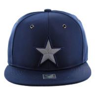 SM100 Star Snapback Cap (Solid Navy)