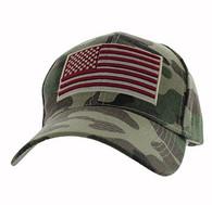 VM367 American USA Flag Velcro Cap (Solid Military Camo)