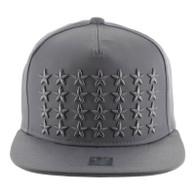 SM772 Star Snapback Cap (Solid Grey)