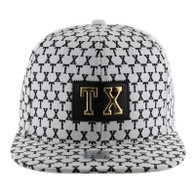 SM093 Texas Snapback Cap (Solid White)