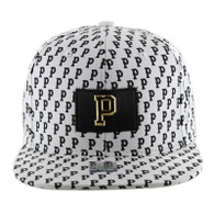 SM093 Pittsburgh Snapback (Solid White)
