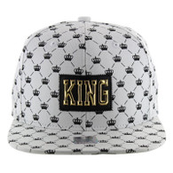 SM093 King Snapback Cap (Solid White)