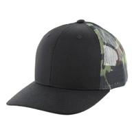 K815 Blank Cotton Classic Mesh Trucker Cap (Black & Military Camo)