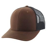 K815 Blank Cotton Classic Mesh Trucker Cap (Brown & Black)