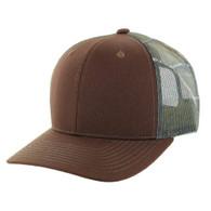 K815 Blank Cotton Classic Mesh Trucker Cap (Brown & Hunting Camo)
