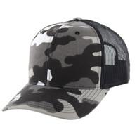 K815 Blank Cotton Classic Mesh Trucker Cap (Grey Military Camo & Black)