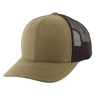 K815 Blank Cotton Classic Mesh Trucker Cap (Khaki & Brown)