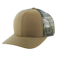 K815 Blank Cotton Classic Mesh Trucker Cap (Khaki & Hunting Camo)