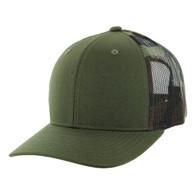 K815 Blank Cotton Classic Mesh Trucker Cap (Olive & & Military Camo)
