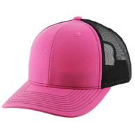 K815 Blank Cotton Classic Mesh Trucker Cap (Pink & & Black)