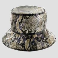 PB004 Waterproof PVC Backet Hat (Solid Black)