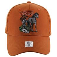 VM059 Texas Baseball Cap Hat (Solid Texas Orange)