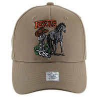 VM059 Texas Baseball Cap Hat (Solid Khaki)