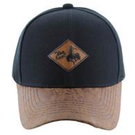 VM113 Cowboy Velcro Cap (Black & Brown)