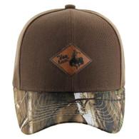 VM113 Cowboy Velcro Cap (Brown & Hunting Camo)