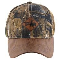 VM113 Cowboy Velcro Cap (Hunting Camo & Brown)
