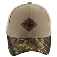 VM113 Cowboy Velcro Cap (Khaki & Hunting Camo)