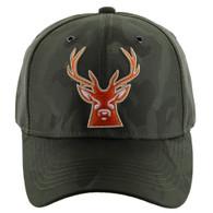 VM121 Deer Hunter Velcro Cap (Solid Olive Camo)